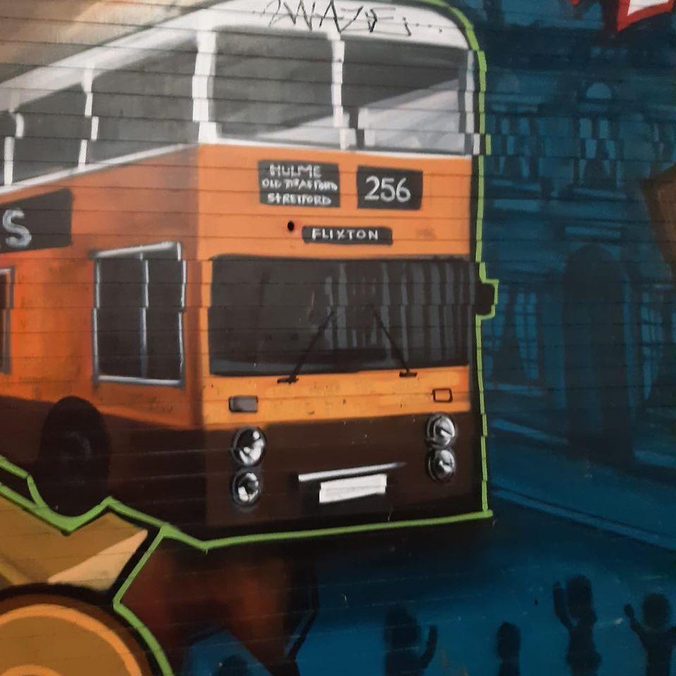 256 Bus Grafitti art in Northern Quarter