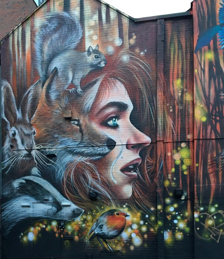 Northern quarter graffiti art Manchester